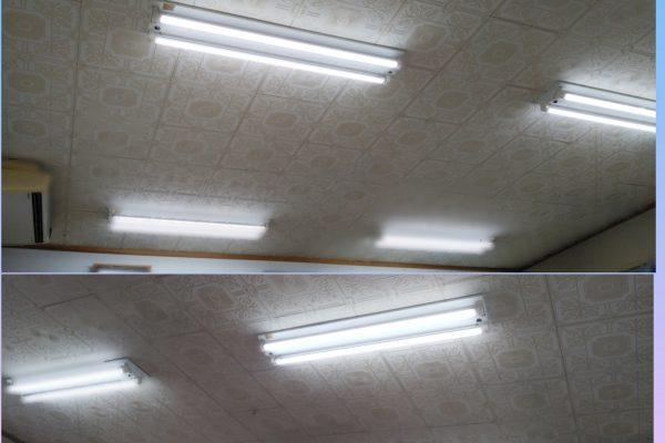 LEDに交換して部屋が一変