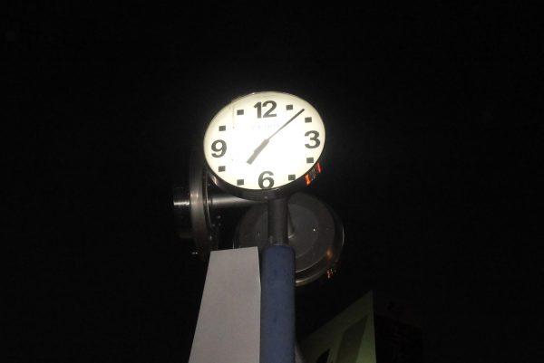 北浜公園時計モニュメント内照明改修工事サムネイル