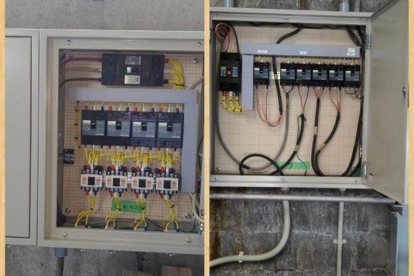 2021.8.5  分電盤取替と配線工事